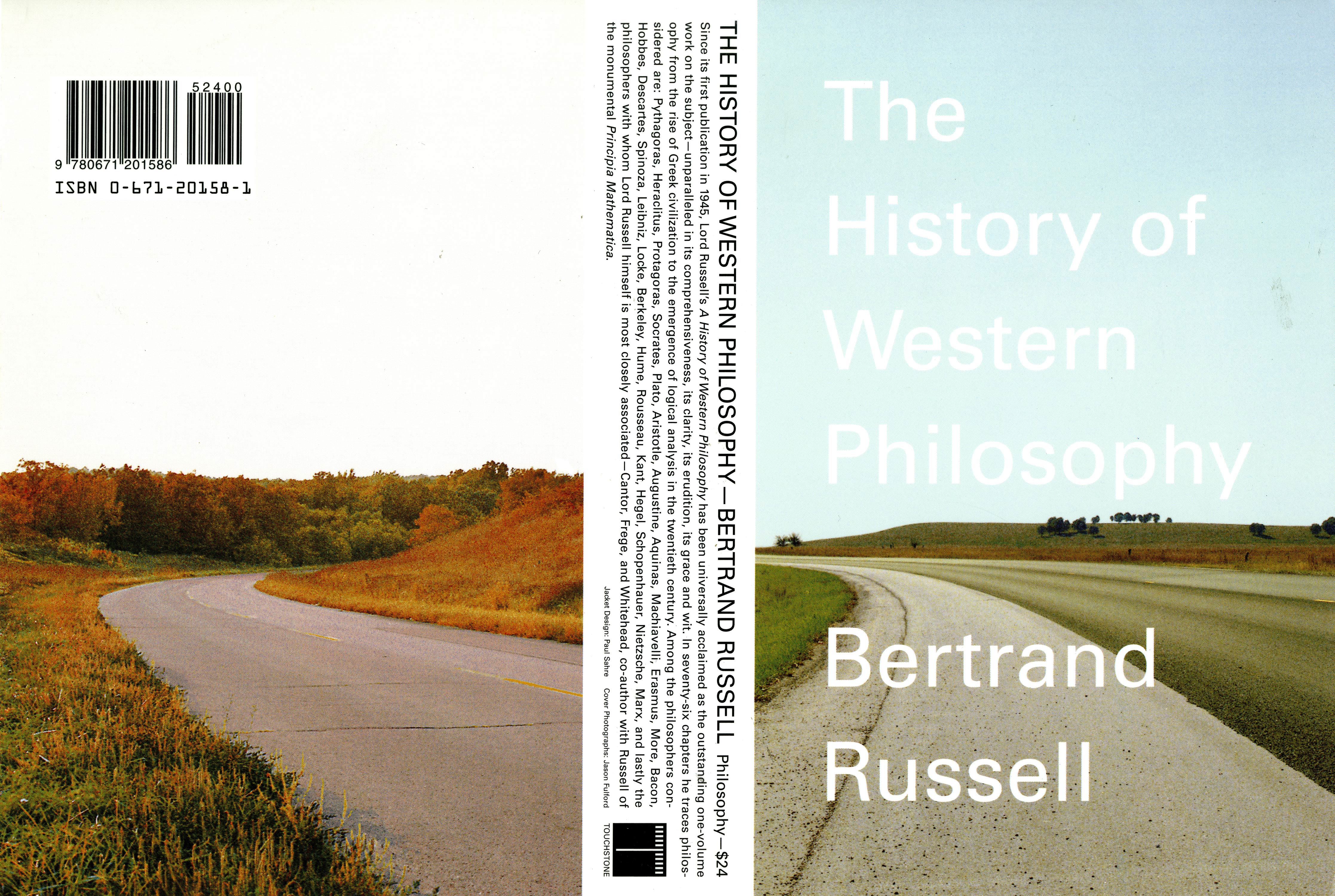 Front & back cover are each a photograph of a different empty roads curving off into the distance.