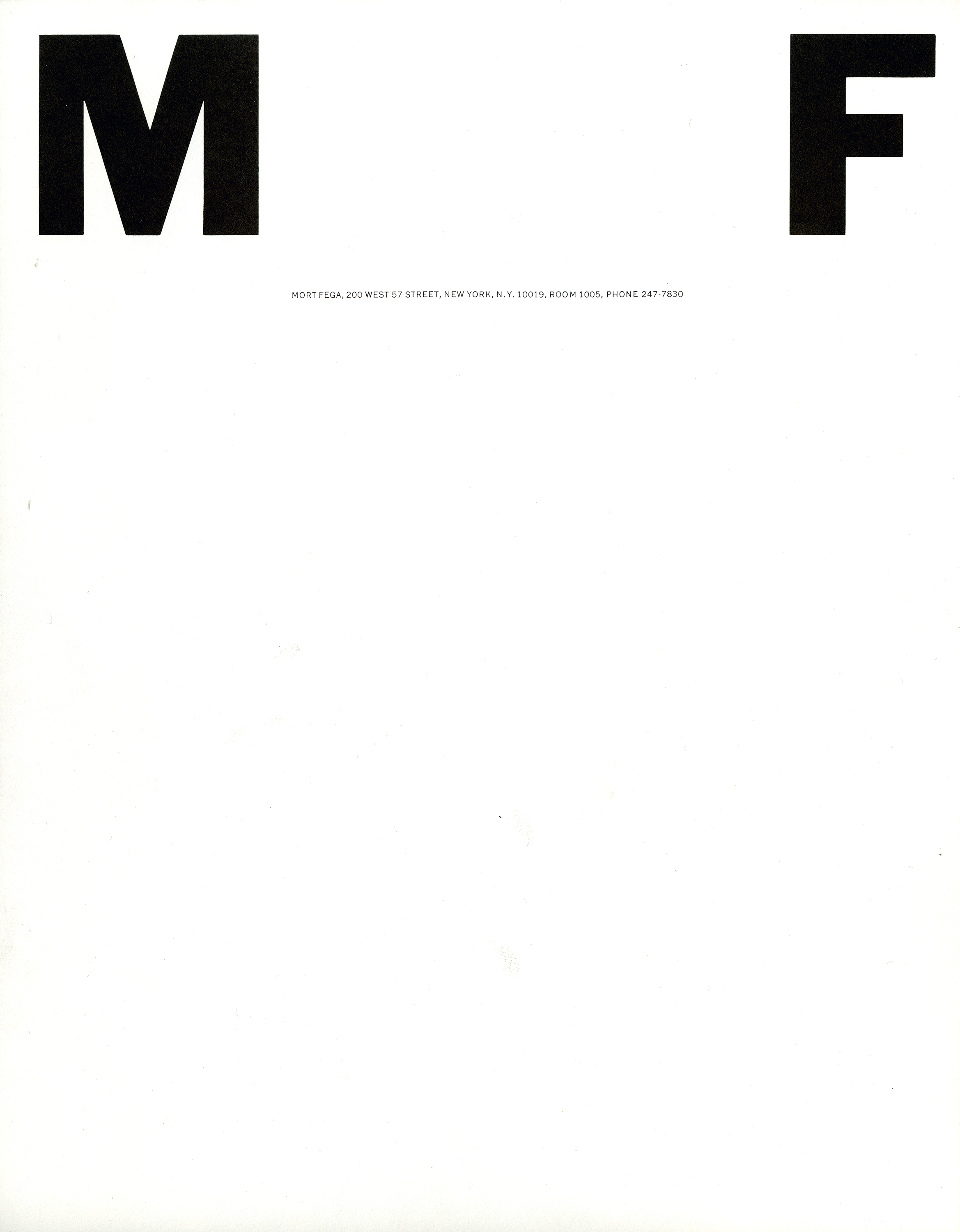 The letters M and F appear on opposite sides of the top corners; black against white background.
