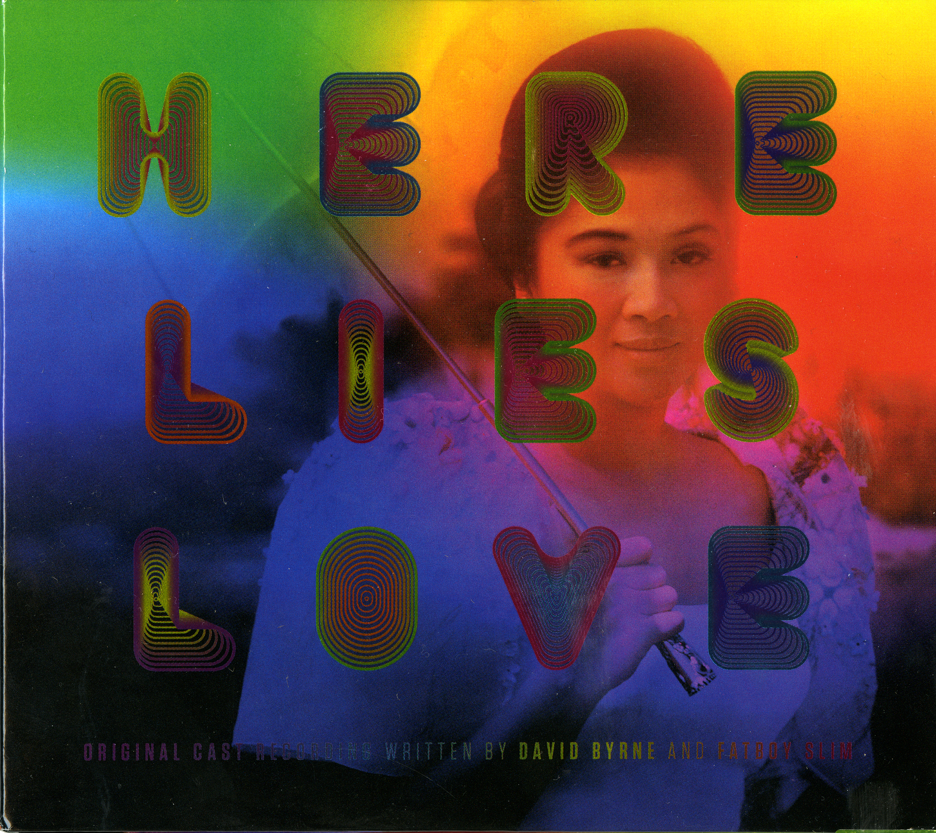 Here Lies Love CD packaging, 2014.