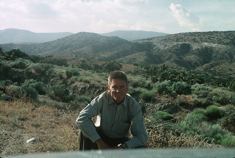 Photograph of Phil Patton in desert landscape