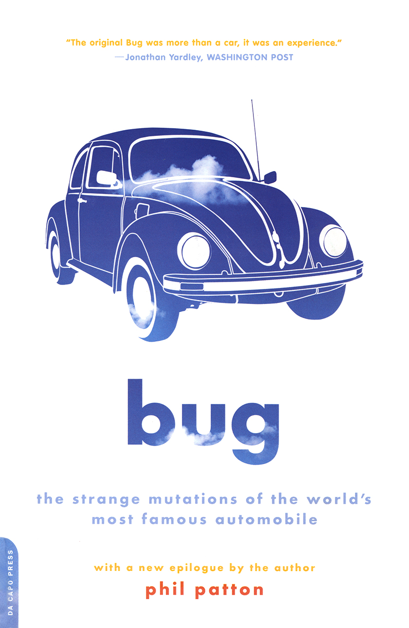 Book cover featuring VW Beetle knockout of sky and clouds