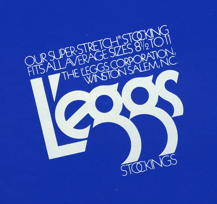 Logo for L'eggs stockings on a blue background