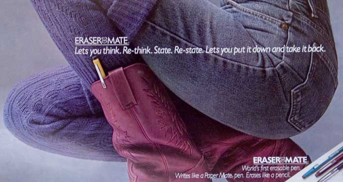 Erasermate: Put it down and take it back