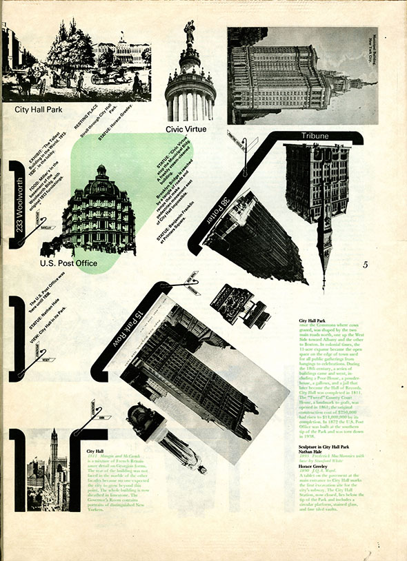 A collection of Manhattan buildings and skyscraper graphics.