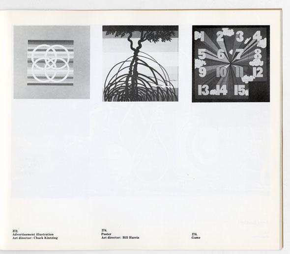 Three black and white posters; from left to right, a graphic of four circles; a tree wit overlapping branchwa; ND A COLLECTION OF THREE DIMENSIONAL NUMBERS