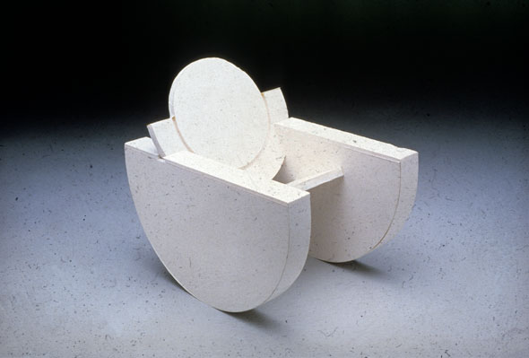 Photograph of a rocking chair made up out of circular shapes