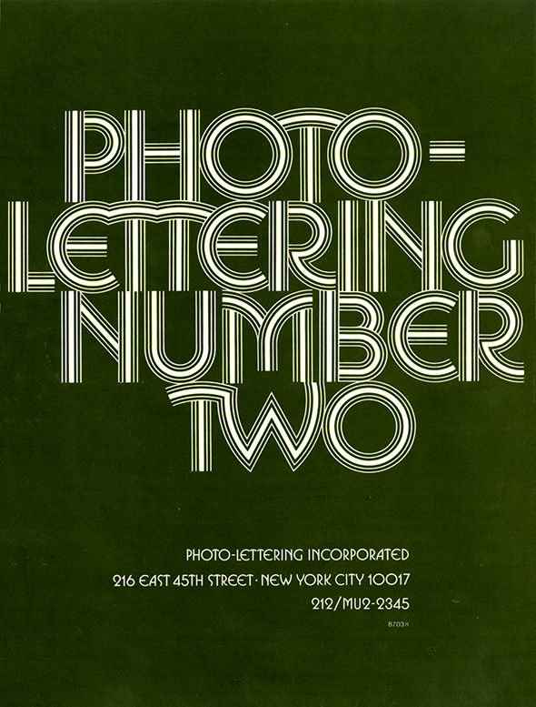 Photo-Lettering Number Two cover.