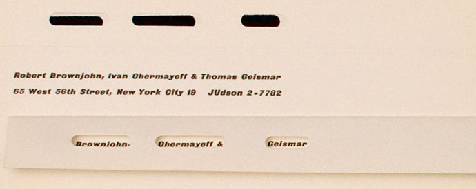 Chermayeff and Geismar's letterhead on Silver Lining