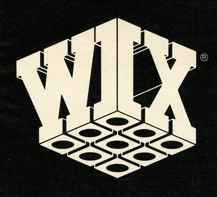 The name Wix forming two sides of a cube seen from below