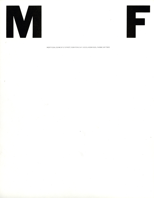 "A white image with a large black ""M"" printed on the upper left corner, and ""F"" printed on the upper right."