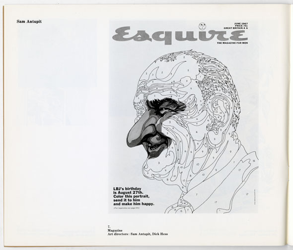 "Black and white portrait of Lyndon B Johnson, styled like a paint by numbers poster for Esquire magazine. Text reads ""LBJ's birthday is august 27th. Color this portrait, send it to him and make him happy."""