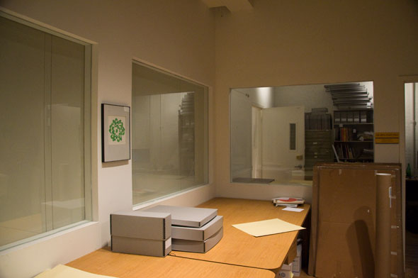 Interior of the Milton Glaser Design Archives reading room