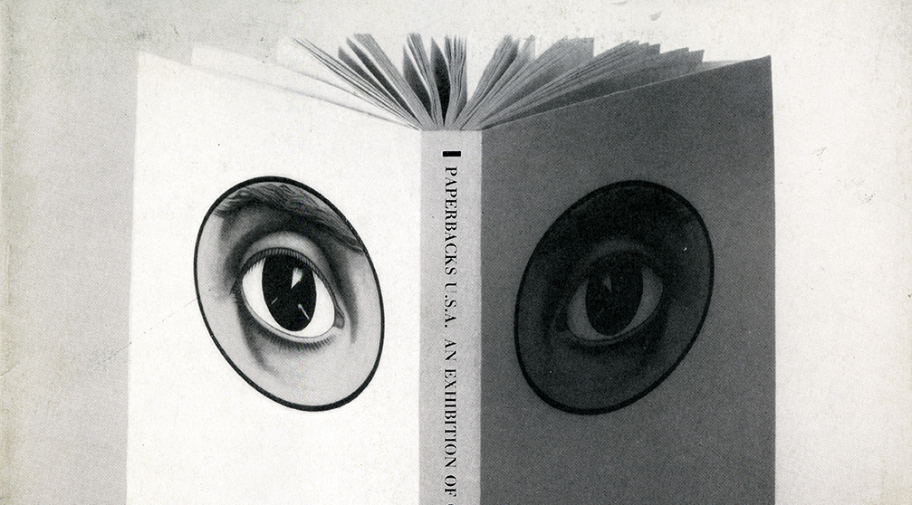 Open book with eyes on front and back cover