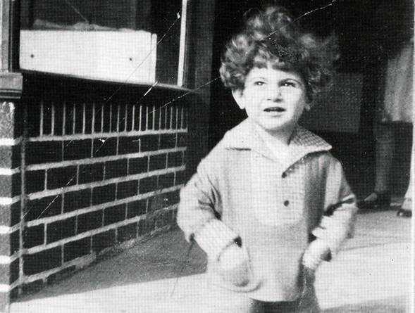 black and white photo of child