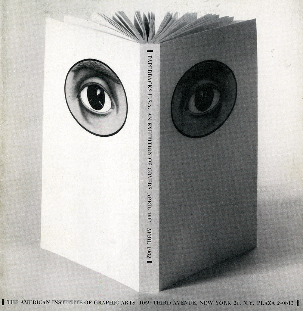 Open book with eyes on front and back covers