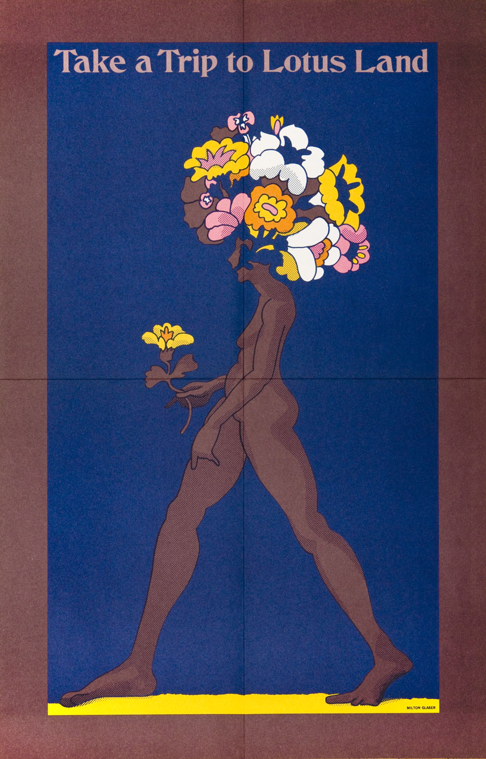 Nude with flowers for hair