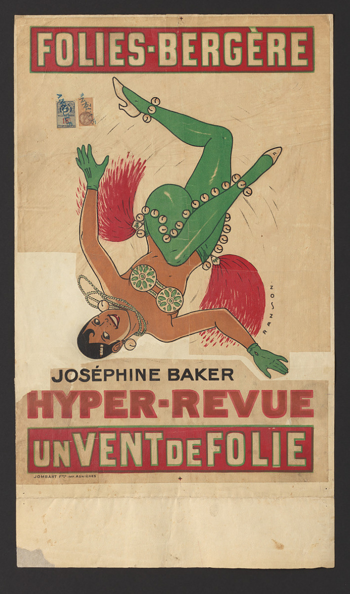 Josephine Baker turned upside down