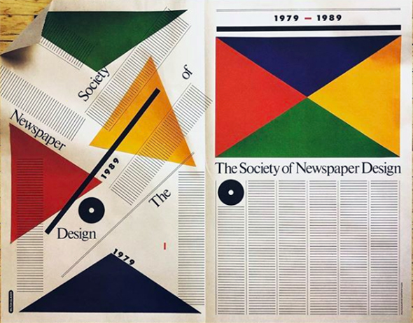Abstract poster for Society of Newspaper Designer