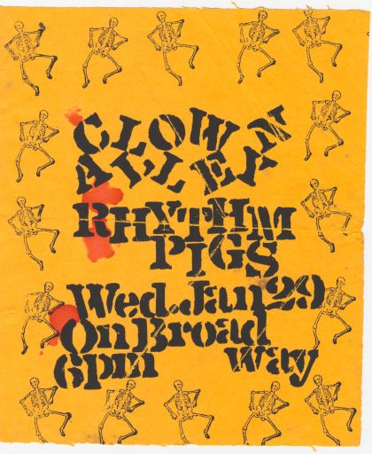 Flyer for Clown Alley Rhythm Pigs