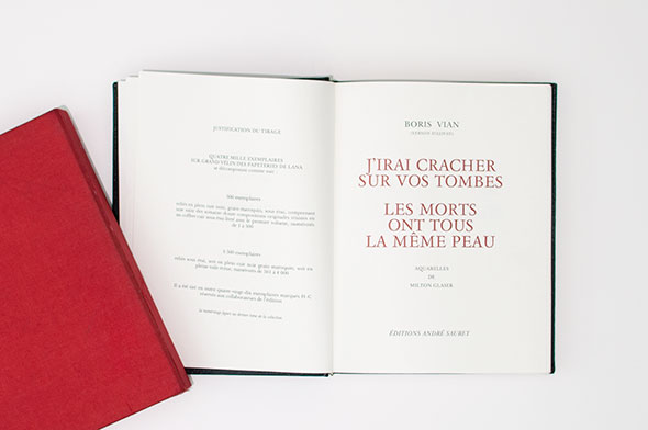 "Title page of ""J'irari Cracher Sur Vos Tombes""."