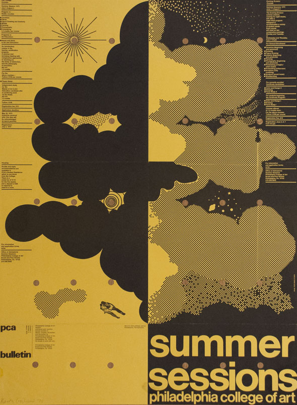 Philadelphia College of Art poster, 1975.